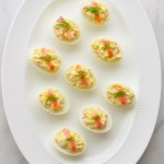 Smoked Salmon Deviled Eggs | tamingofthespoon.com