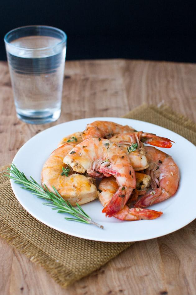 Lemon-Herb Grilled Shrimp | tamingofthespoon.com