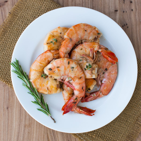 Lemon and Herb Grilled Shrimp | tamingofthespoon.com
