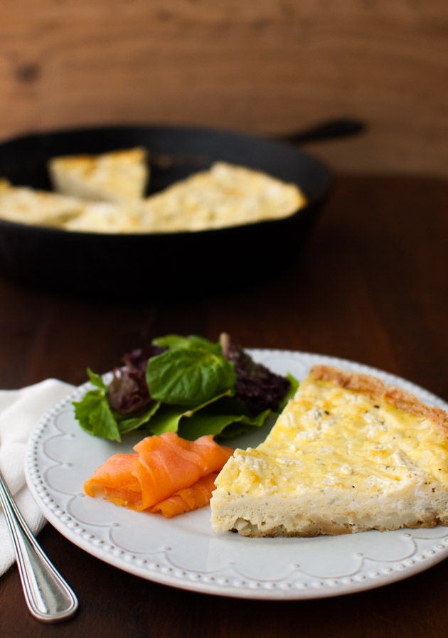 Potato and Boursin Frittata - Creamy Boursin cheese adds richness and hash brown potatoes add crunch to this quick and easy frittata. Perfect for brunch or dinner. | tamingofthespoon.com