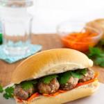 Vietnamese Meatball Banh Mi Sandwich | tamingofthespoon.com