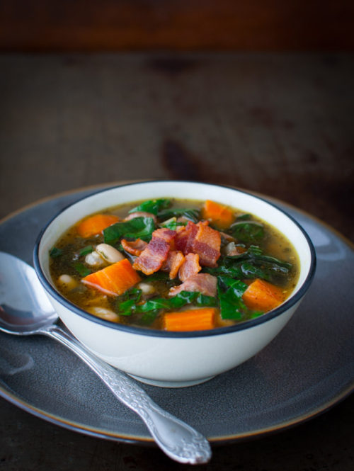 Swiss Chard Soup | tamingofthespoon.com