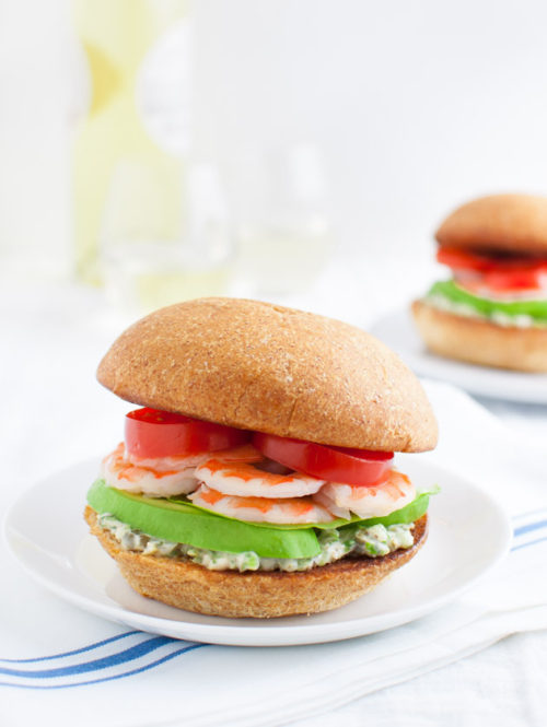 Shrimp Sandwich with Tarragon-Caper Mayonnaise | tamingofthespoon.com