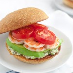 Shrimp Sandwich with Tarragon-Caper Mayonnaise | tamingofthespoon.com