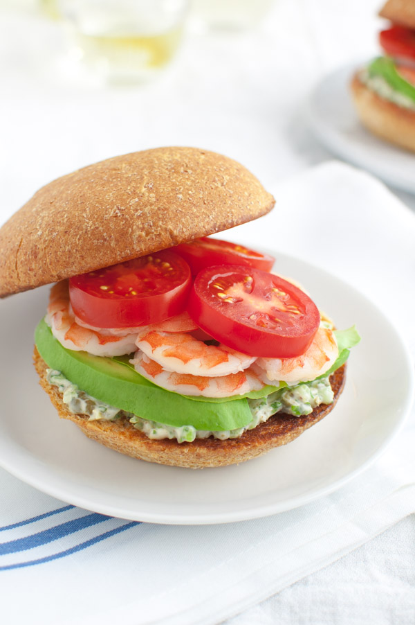 Shrimp Sandwiches with Tarragon-Caper Mayonnaise - Tarragon, capers ...