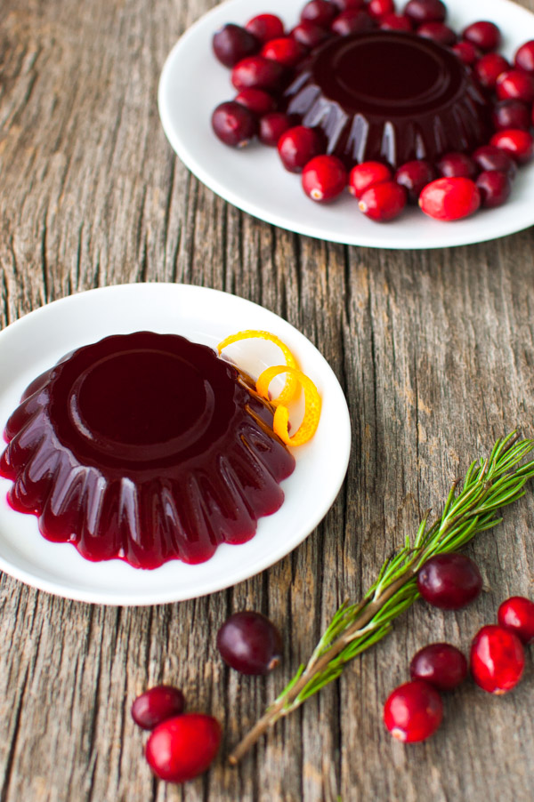 Fresh cranberry jelly is easy to make with only 3 ingredients from tamingofthespoon.com