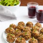 Cheddar Stuffed Mushrooms | tamingofthespoon.com