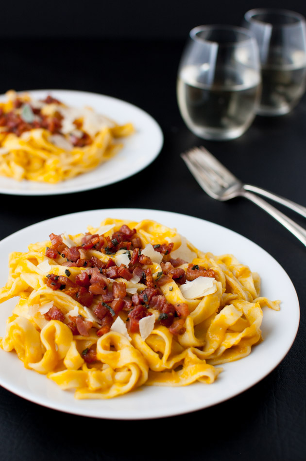 Creamy Butternut Squash Pasta with Pancetta and Sage - Taming of the ...