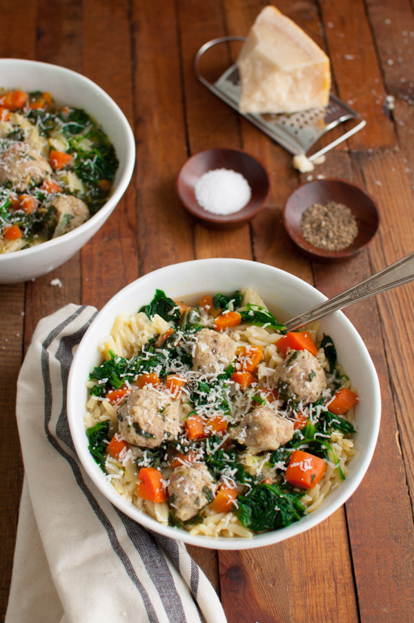 a hearty and flavorful soup full of spinach carrots orzo and meatballs this italian wedding