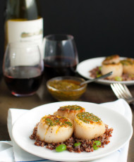 Pan Seared Scallops with Chermoula Sauce