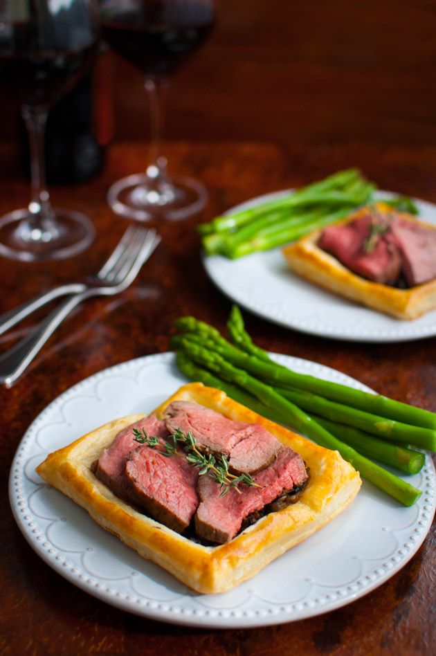 Beef Wellington Tart - Just as elegant and tasty as the classic beef Wellington but easier and perfectly portioned for two from tamingofthespoon.com