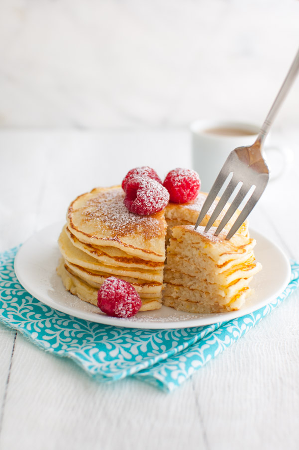Lemon Soufflé Pancakes - These light, airy, and lemony pancakes are a happy and tasty way to start your day from tamingofthespoon.com