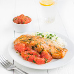 Salmon and Grapefruit Chermoula | tamingofthespoon.com