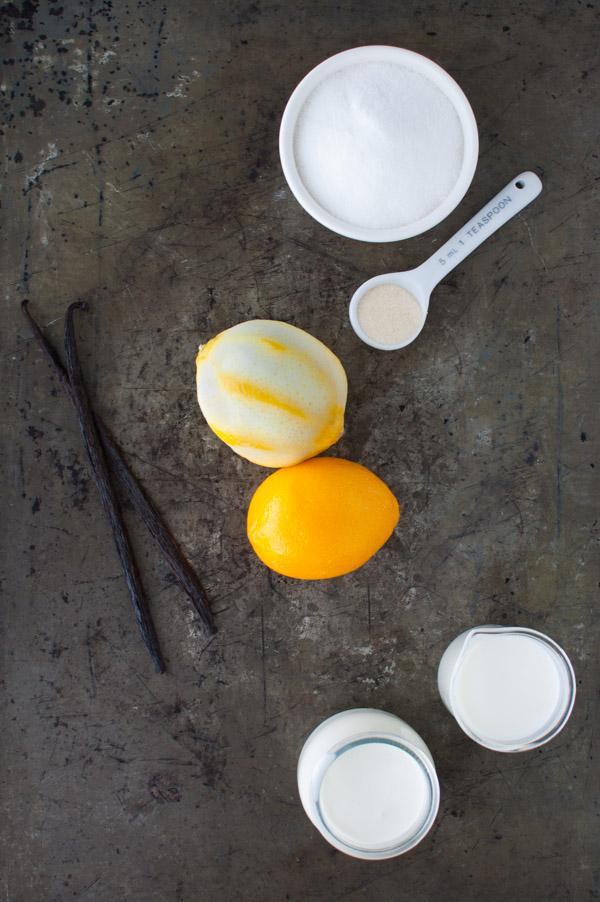 Lemon Panna Cotta - creamy, lemon infused panna cotta topped with sweet meyer lemon marmalade. Easy to make - impressive results from tamingofthespoon.com