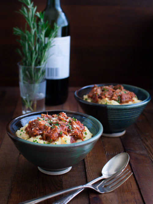 Pork Ragu with Polenta | tamingofthespoon.com