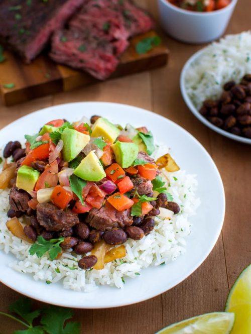 Beef Burrito Rice Bowls