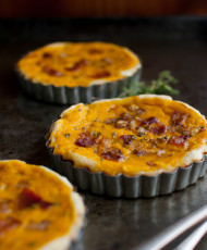 Winter Squash Tart with Bacon, Caramelized Onions, and Herbs