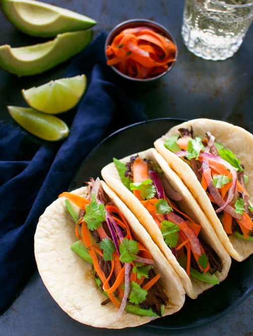 Korean Beef Tacos | tamingofthespoon.com