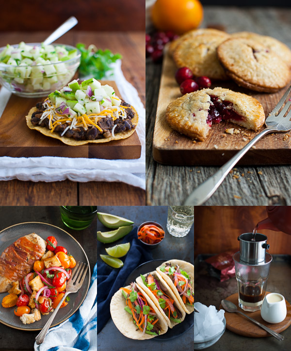 Collage of photos showing personal favorite recipes published on the website in 2015.