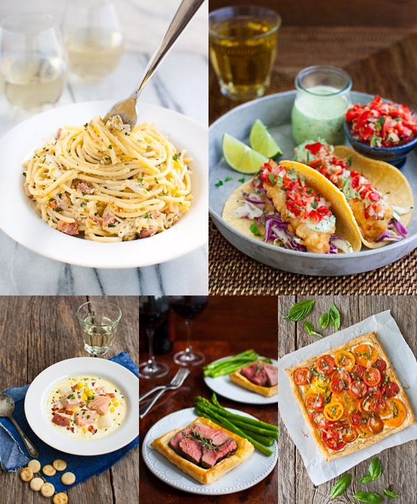 Collage of photos showing readers' favorite recipes published on the website in 2015.
