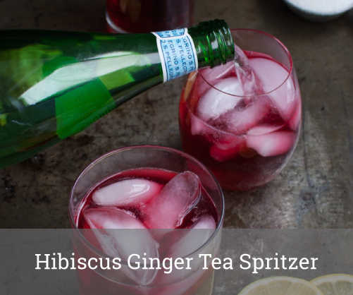 Hibiscus Ginger Tea Spritzer