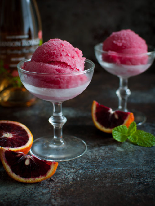 Blood Orange Mimosa Sorbet