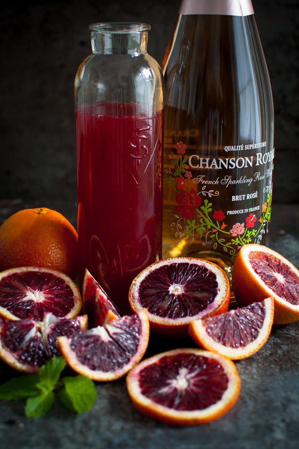 Blood Orange Mimosa Sorbet - if you love mimosas, you'll love this sorbet. Blood oranges add beautiful color. | tamingofthespoon.com