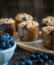 Double Streusel Blueberry Muffins