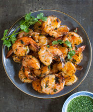 Thai Grilled Shrimp with Angry Sauce {Goong Pao}