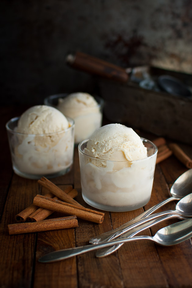 Cinnamon Ice-cream - When you want something beyond vanilla, try cinnamon ice-cream. It's delicious on its own and works great as a topping for peach cobblers in summer or apple pies and gingerbread in the fall. | tamingofthespoon.com
