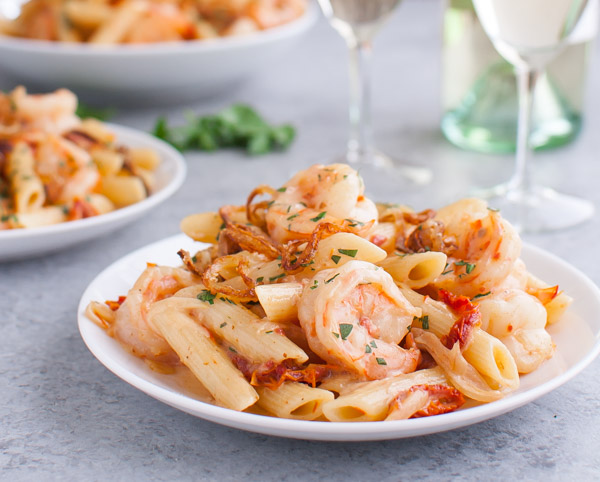 Shrimp in Madeira Sauce
