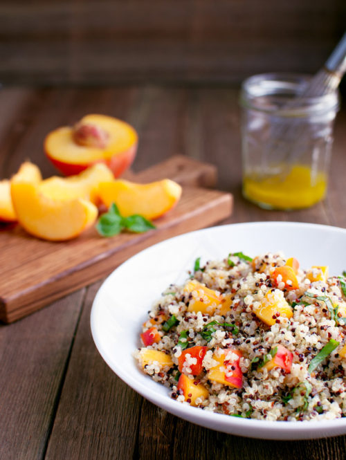 Citrus Quinoa Salad with Peaches