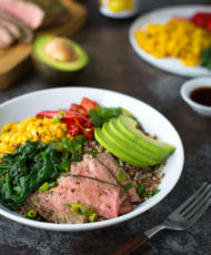 Chimichurri Steak and Quinoa Bowls