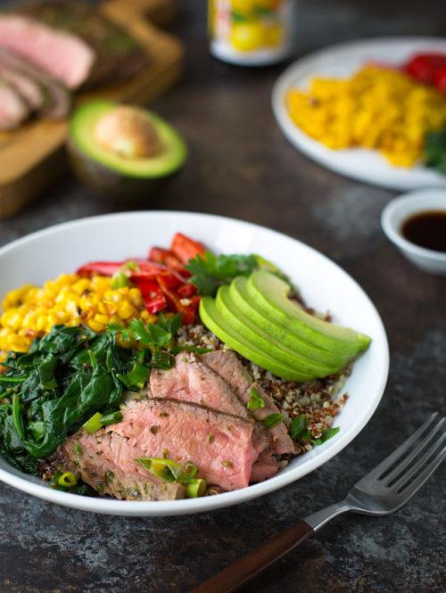 Chimichurri Steak and Quinoa Bowls