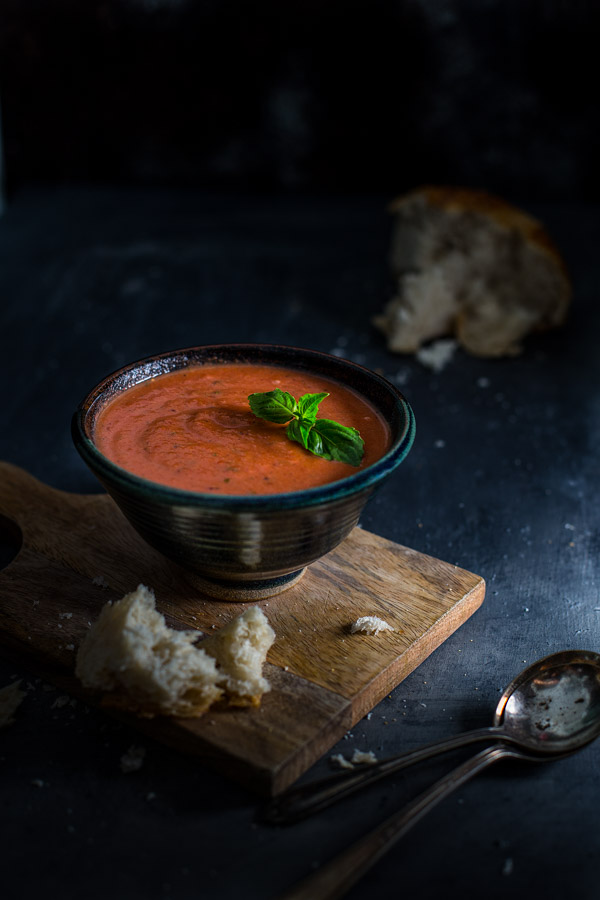 Easy Tomato-Basil Soup - Simple ingredients, 30 minutes to simmer and you've got a bowl of rich tomato-basil soup with minimal effort. | tamingofthespoon.com