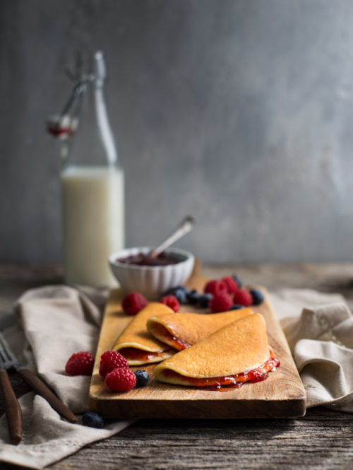 Roll-up Pancakes {Gluten-Free & High Protein}