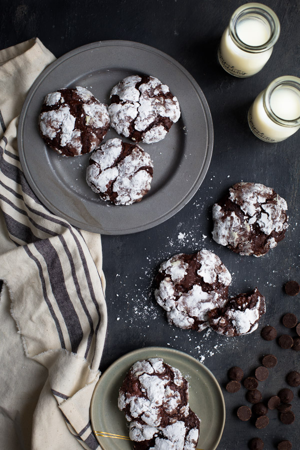 Gluten-Free Deep Dark Chocolate Cookies - Rich, chocolatey, chewy, decadent AND they happen to be gluten-free. | tamingofthespoon.com