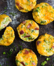 Mini Breakfast Frittatas with Broccoli and Bacon