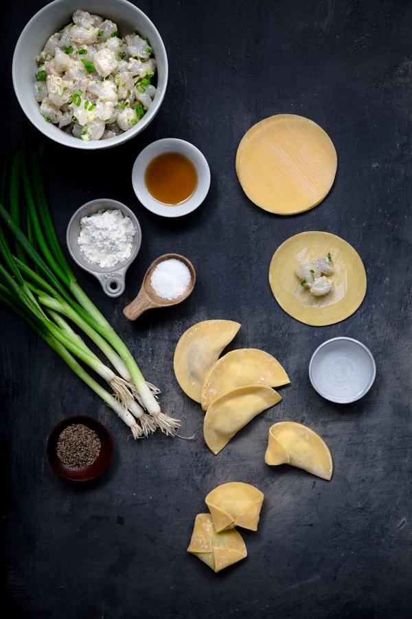 Shrimp Dumpling Soup - easy to make shrimp dumplings in a quick yet flavorful broth.   tamingofthespoon.com