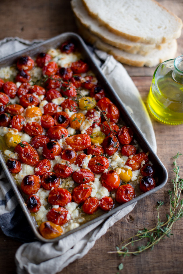 Roasted Tomatoes with Thyme and Feta
