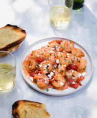 Garlic Shrimp with Oregano and Feta
