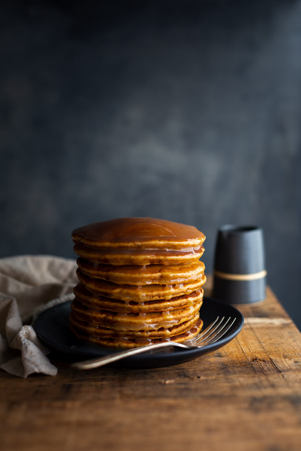Gingerbread Pancakes with Lemon Sauce