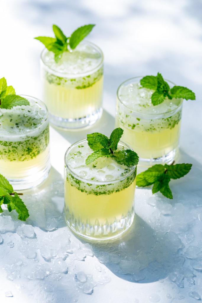 Frozen Mint Lemonade - Incredibly easy to make and tastes like a cool breeze, this lemonade will be your favorite summer drink.